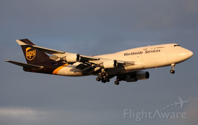 Boeing 747-400 (N579UP) - BCF Model Short Final To Rwy 16R