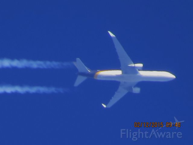 BOEING 767-300 (N334UP) - United Parcel Service flight 2958 from PHX to SDF over Southeastern Kansas at 37,000 feet.