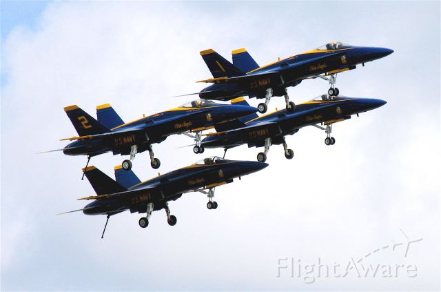 — — - Dirty formation fly-by during practice session at KNPA (Pensacola NAS).