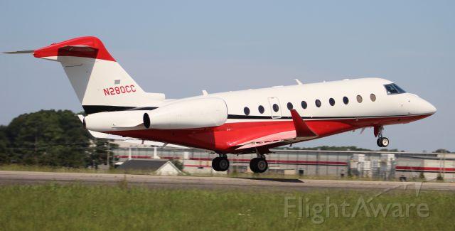 IAI Gulfstream G280 (N280CC) - An Israeli Aircraft Industries Gulfstream G280 departing Runway 36 at Pryor Regional Airport, Decatur, AL - July 26, 2019.