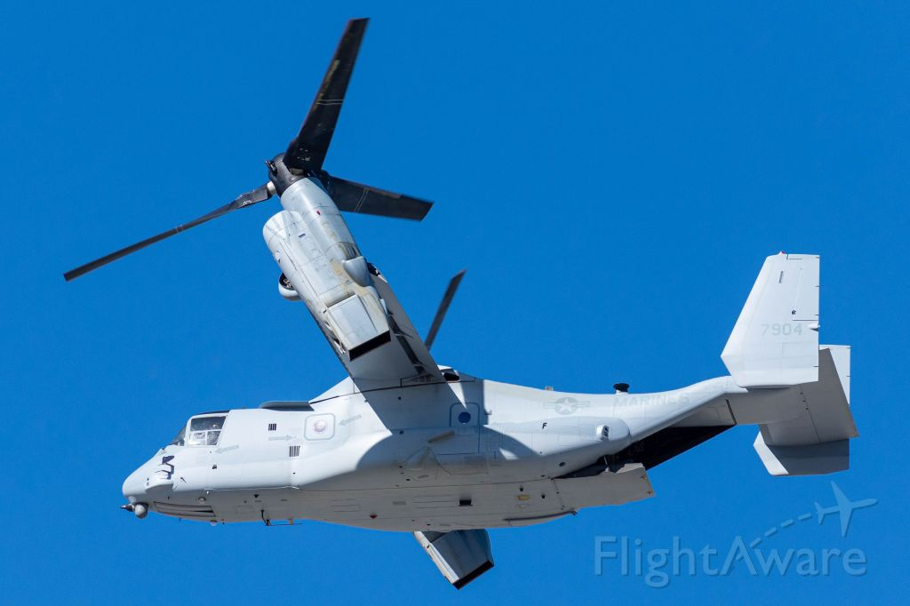 Bell V-22 Osprey (16-7904) - MV-22B departing via 16L