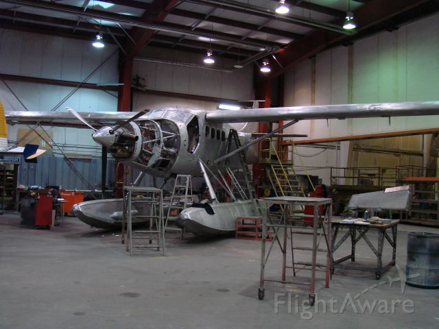 De Havilland Canada DHC-3 Otter (C-GOFB) - In the paint shop. Sault Ste Marie, Ontario Winter 2012