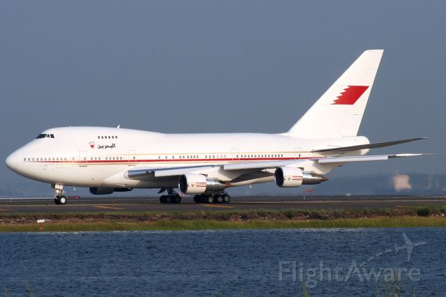 BOEING 747SP (A9C-HMH) - Bahrain Government B747SP departing Logan on 8/2/06.