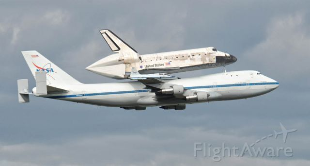 BOEING 747-100 (N905NA) - 747 carrying Discovery Space Shuttle with T-38 escort. 4-17-2012.