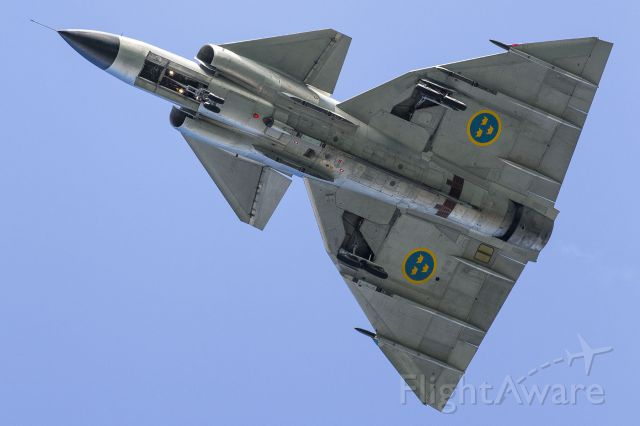 — — - Saab Viggen at Battle of Britain Airshow Jersey Channel Islands Sept 2012