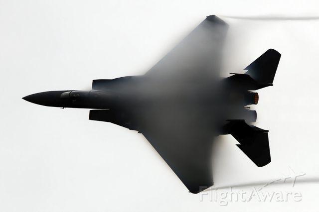 91-0329 — - USA Air Force McDonnell Douglas F-15E Strike Eagle 91-0329/LN [cn.1236/E194]. Making clouds at IWM Duxford EGSU Aerodrome England.