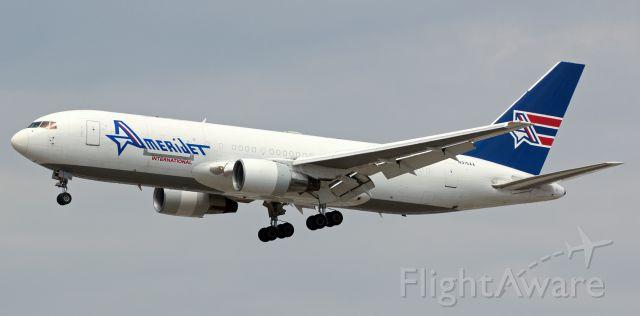 BOEING 767-200 (N315AA) - This snap of N315AA, a B762, as it is on a s/final to Reno Tahoe International