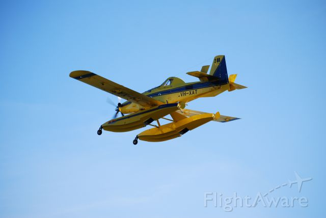VH-XAT — - XT-802A Air Tractor practicing water landings at Lake Somerset, Queensland, Australia.