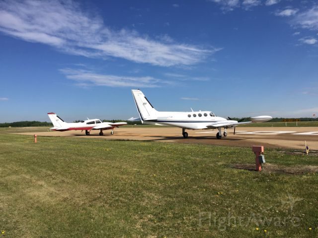 Cessna 340 (C-GVMW) - My 340 and my brothers 310, resting on the ramp in Cooking Lake, AB.