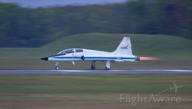 Northrop T-38 Talon (N967NA) - NASA967, piloted by NASA JSC's Chief of Astronauts, goes full afterburner on departure from EFD on 3/23/2021