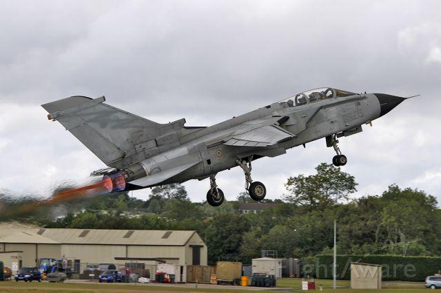 COA7047 — - [cn.5056]. Italy Air Force Panavia Tornado ECR CSX7047/50-43. Powered takeoff at RAF Fairford EGVA.