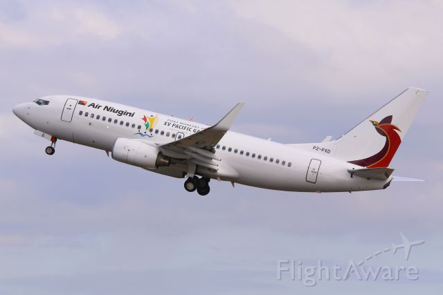 Boeing 737-700 (P2-PXD) - PXD up,up,up and away