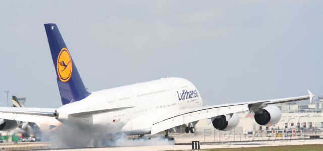 Airbus A380-800 (D-AIMF) - Check out our aviation videos with 100% authentic and non-leveled sound! a rel=nofollow href=http://youtube.com/ilikeriohttps://youtube.com/ilikerio/abr /br /Touchdown! :D