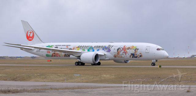 Boeing 787-9 Dreamliner (JA873J) - Japan Airlines (Arashi JAL-Hawaii Livery)