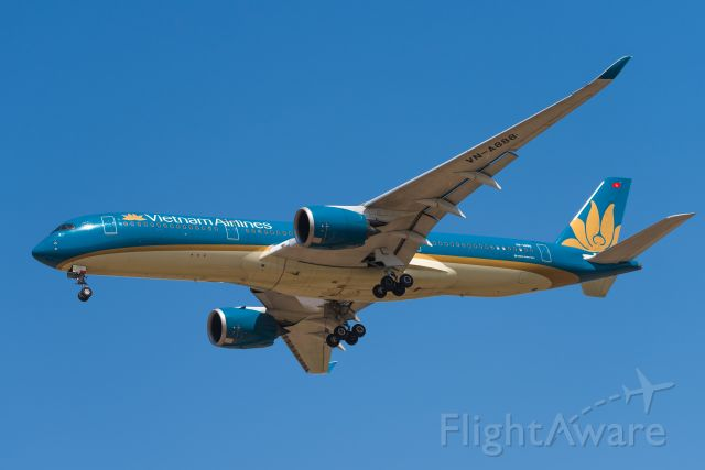 Airbus A350-900 (VNA888) - Vietnam airlines a359 landed at zspd-19.4.12