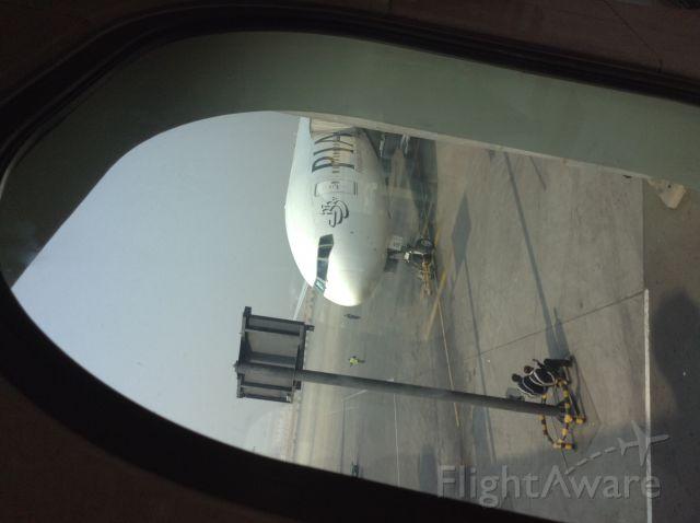Boeing 777-200 (PIA733) - Dans la passerelle