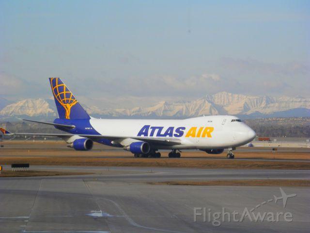 Boeing 747-400 (N475MC) - Departing CYYC April 8 2014