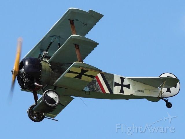SANDS Fokker Dr-1 (C-GDRI) - Flying at Geneseo