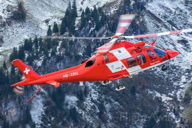 SABCA A-109 (HB-ZRU) - Axalp livre fire demonstration<br />Swiss Air-Rescue Agusta A109 DaVinci