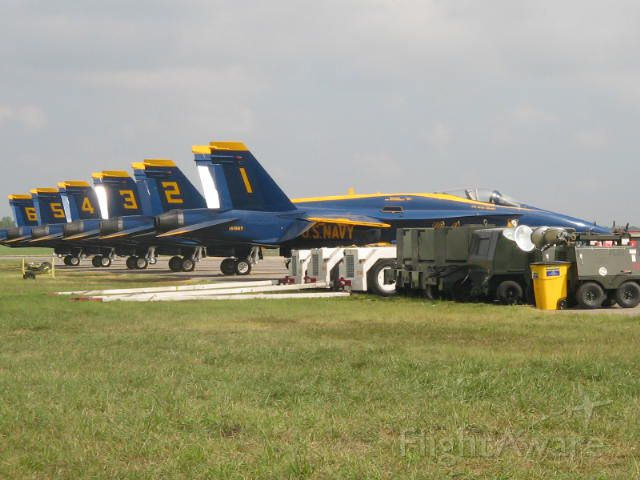 — — - Blue Angels before the show.