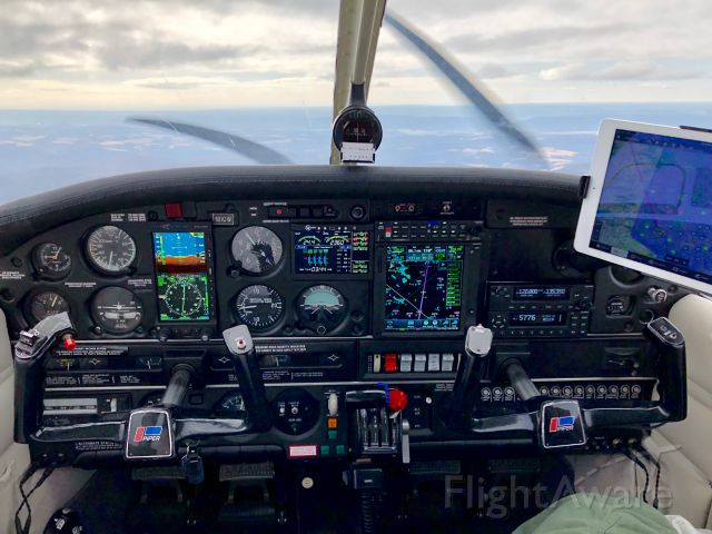 Piper Cherokee (N11CW) - Completed panel upgrade.