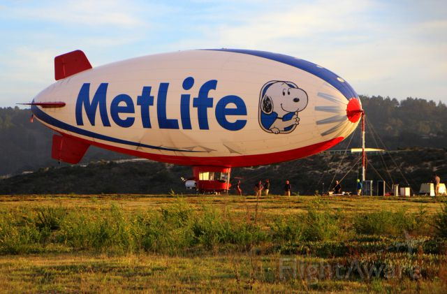 Unknown/Generic Airship (N615LG) - KMRY -Monterey,CA  Snoopy on the LZ,  Aerial camera platform for the ATT Pro Am Golf Tournament at Pebble Beach February 2015.