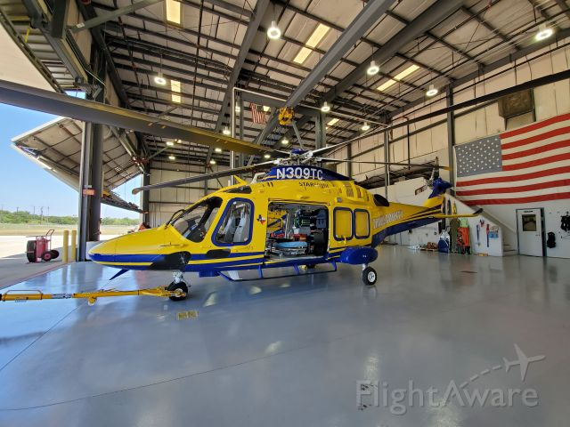 N309TC — - STARFlight AW169 inside the main hanger, Austin, Texas