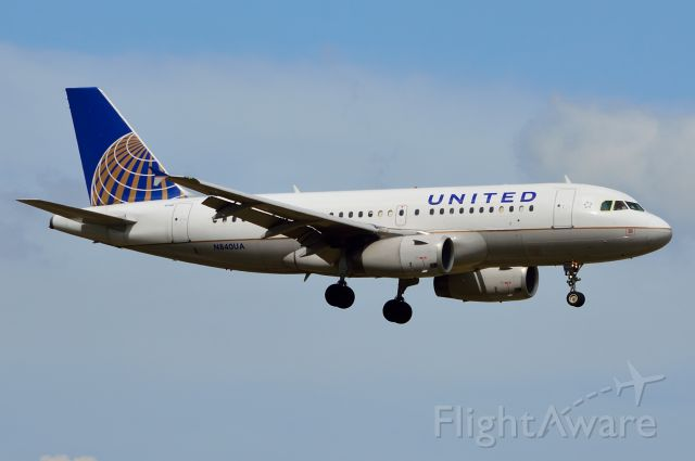 Airbus A319 (N840UA) - United - N840UA - A319 - Arriving KDFW 07/17/2013
