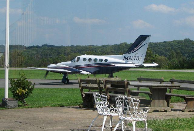 Cessna 421 (N421TG) - At Sky Manor, NJ