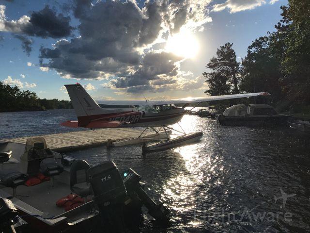 Cessna Skyhawk (N5043R) - Up on Crane Lake in Northern Minnesota in early July. Taken on my iPhone 7.
