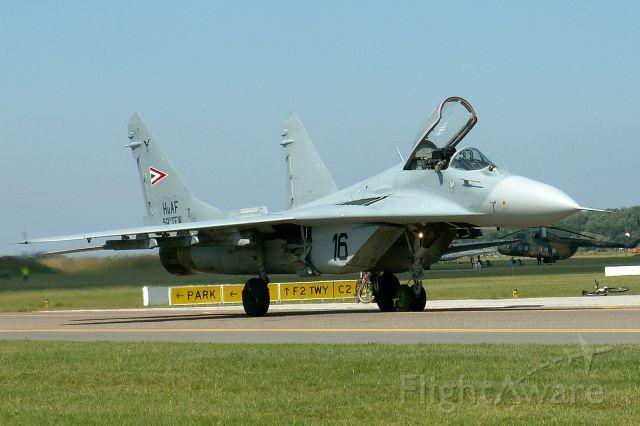 — — - Mig-29; Hungarian Air Force