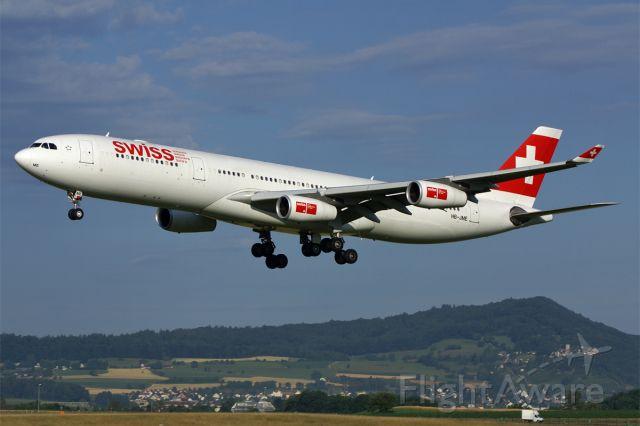Airbus A340-300 (HB-JME) - Airbus A340-313E, Swiss, HB-JME, LSZH Airport Zurich-Kloten, Switzerland, 11.July 2008