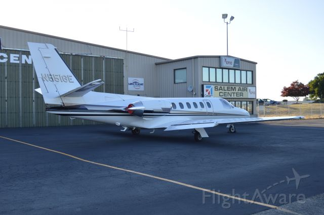 Cessna Citation II (N551GE) - Parked on the Salem Air Center ramp after arriving from Mountain Home (U76) earlier in the afternoon.