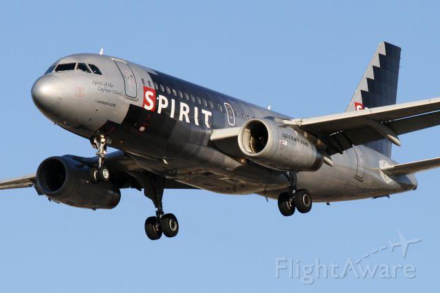 Airbus A319 (N514NK) - Dec. 10, 2011 - short final for 28