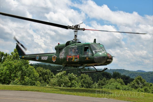 Bell UH-1V Iroquois (N98F) - Owned by Mike Holbrook of Marpat Aviation. Flown by Vietnam Veteran pilot Robert Curtis.