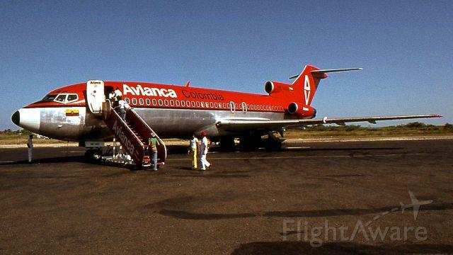Boeing 727-100 — - Aéroport de Cartagena de Indias, janvier 1977<br />Départ pour Santa Marta.