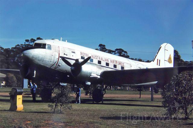 Cessna Skyhawk (N223) - AUSTRALIA - AIR FORCE - DOUGLAS DC-47A DAKOTA (DC-3) REG N2-23 (CN 11973) - WEST WYALONG NSW. AUSTRALIA - YWWL 26/6/1988 35MM SLIDE CONVERSION USING A LIGHTBOX AND A NIKON L810 DIGITAL CAMERA IN THE MACRO MODE