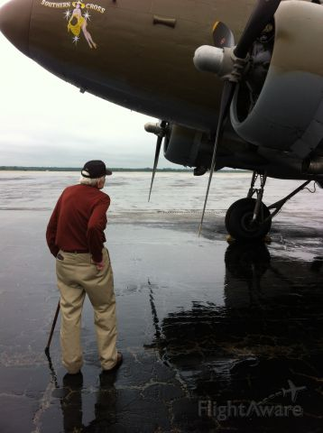 — — - Aubrey Brim, USAAC C47 Pilot 43-46.  He signed just inside the entry door.  Taken during Warbirds and Legends Topeka Aug 2013
