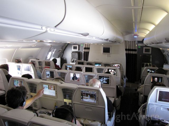 Airbus A380-800 — - The Premium Economy section on the upper deck of an Air France A380