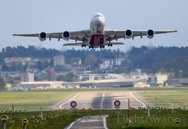 Airbus A380-800 (A6-EDW) - Take off from Zuerich / Switzerland
