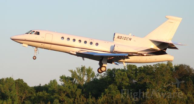 Dassault Falcon 50 (N910CN) - A Dassault-Breguet Falcon 50, departing Boswell Field, Talladega Municipal Airport, AL, after the NASCAR GEICO 500 race at Talladega Super Speedway - very late in the afternoon, April 25, 2021.