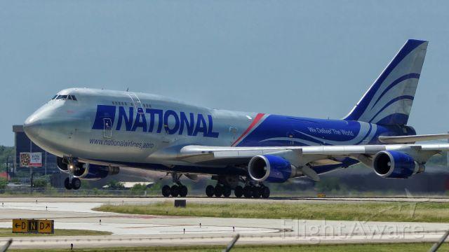 Boeing 747-400 (N919CA) - Departing 4.