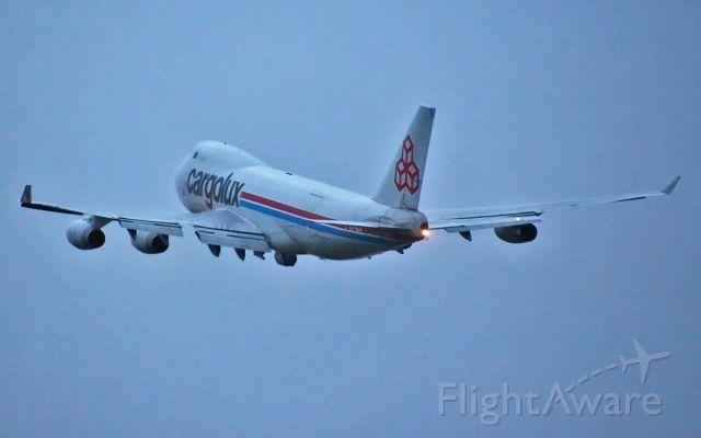 LX-SCV — - cargolux 747-400f lx-scv dep shannon 14/3/14.