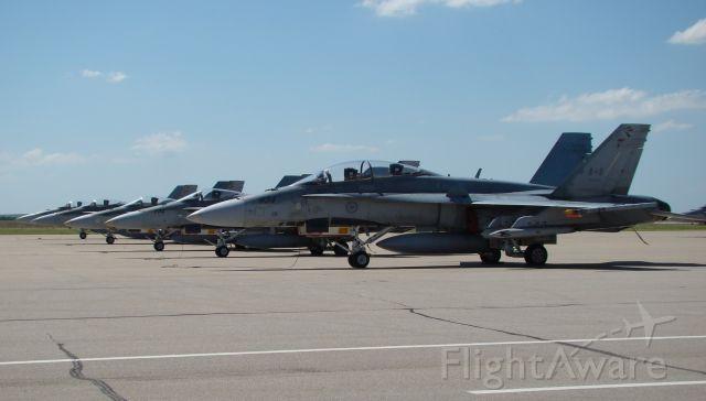 McDonnell Douglas FA-18 Hornet — - Canada Air Force in Salina, Kansas on 06212009