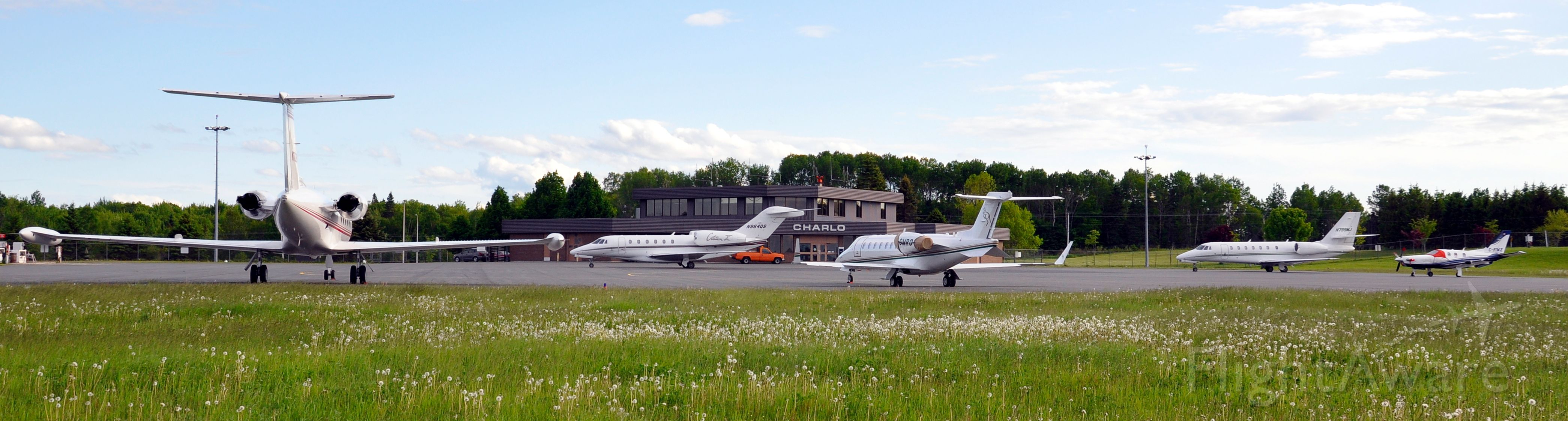 Cessna Citation X (N964QS) - A busy day on the ramp in Charlo, NB