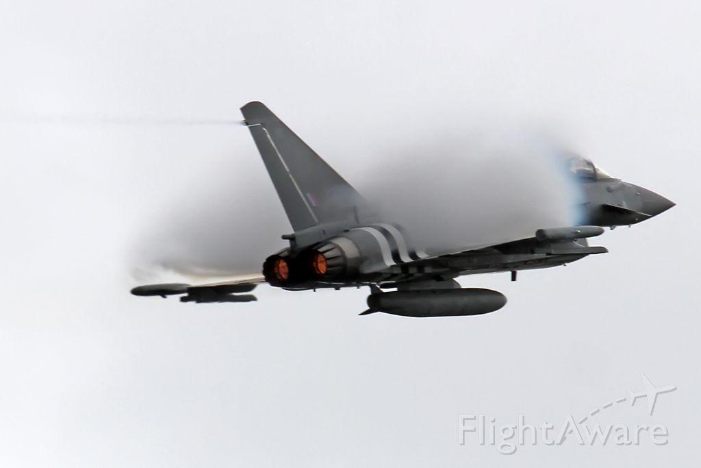 — — - RAF Typhoon during demo flight at RIAT