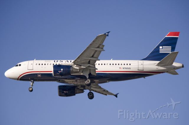 Airbus A319 (N760US) - Seen at KBWI on 10/15/2011