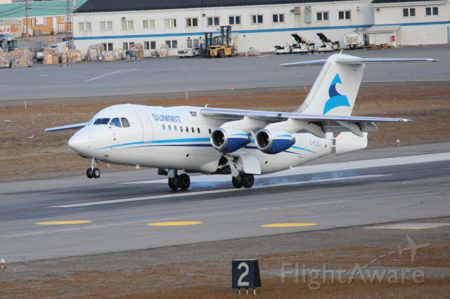 Avro Avroliner (RJ-85) (C-FLRJ) - RJ85 Landing in YFB