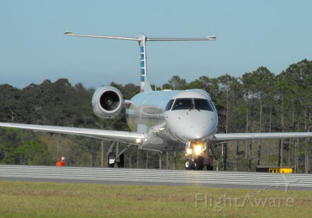 Embraer ERJ-145 (N676AE) - Envoy 3454 to Miami getting ready to depart RWY 18 at TLH.