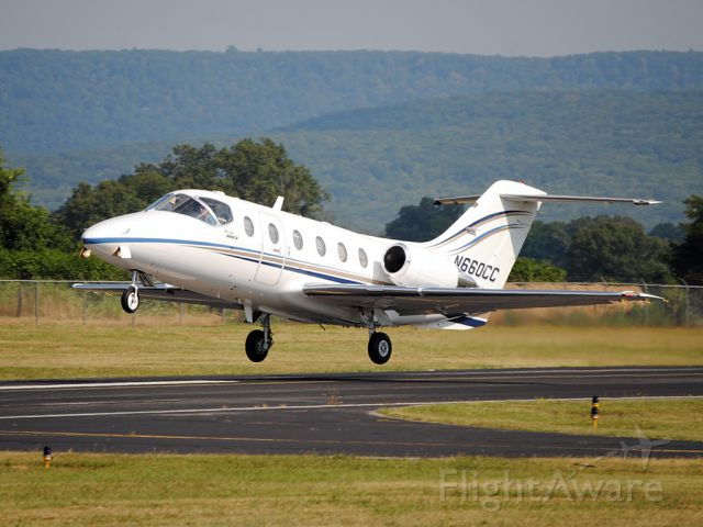 Beechcraft Beechjet (N660CC) - Afrequent visitor to BGF, this Beechjet blasts out on her way back to PTK.
